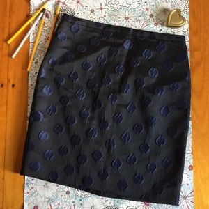 J. CREW The Pencil Skirt Polka Dot Navy blue/black